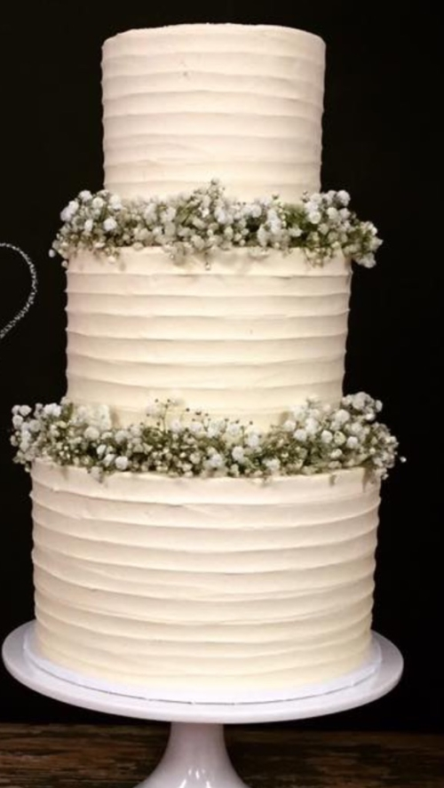 3 tier - 4 layer wedding cake