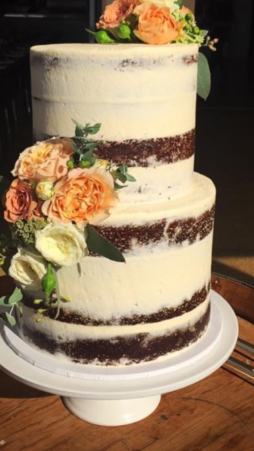 2 tier - 4 layer wedding cake