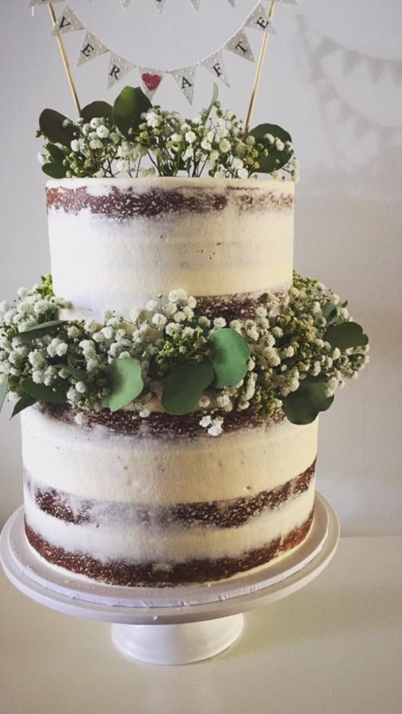 2 tier - 3 layer wedding cake